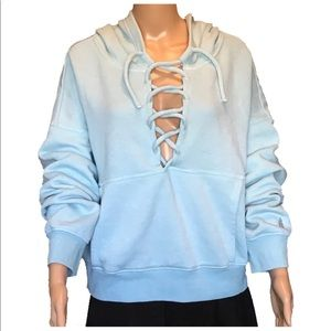 Free People Movement Believe It Lace Up Hoodie